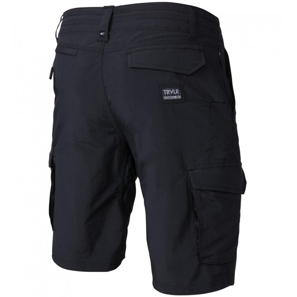 O'NEILL Guys' Traveler Cargo Hybrid Shorts - BLK-BLACK