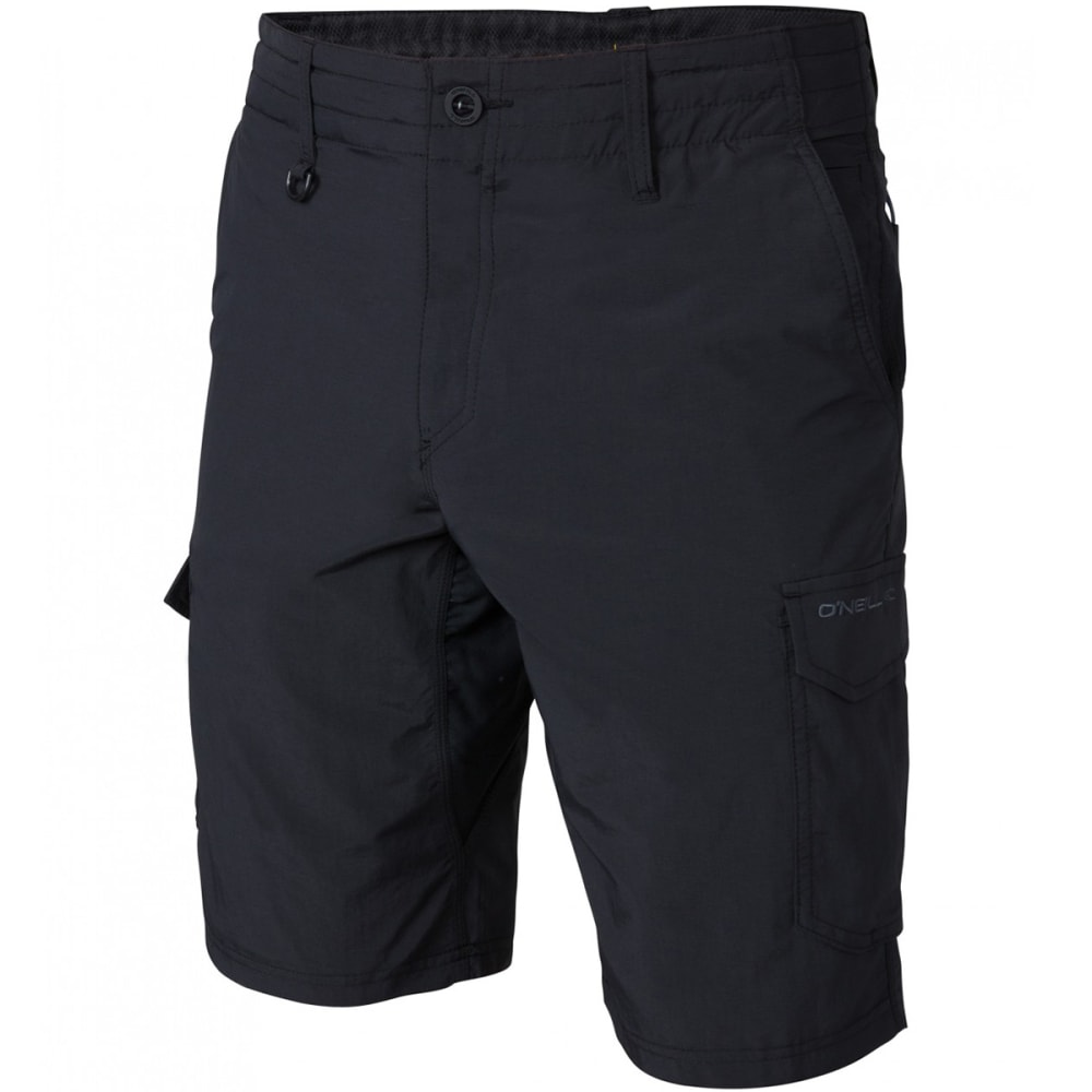 O'NEILL Guys' Traveler Cargo Hybrid Shorts - BLK-BLACK
