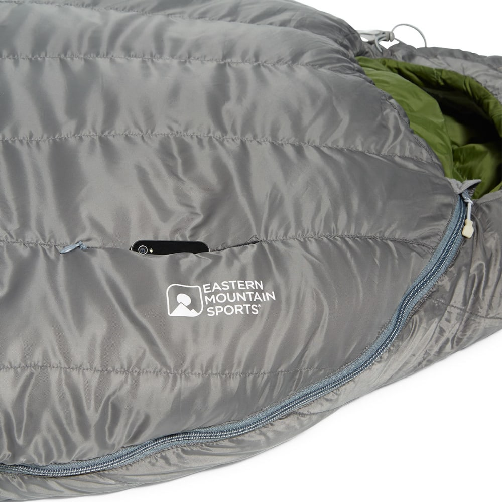 EMS® Mountain Light 20 Sleeping Bag, Long - PEWTER/CHIVE