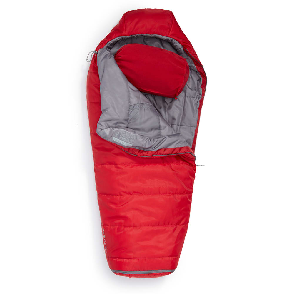 EMS® Solstice 20 Junior Adjustable Sleeping Bag - CHILI PEPPER/PEWTER