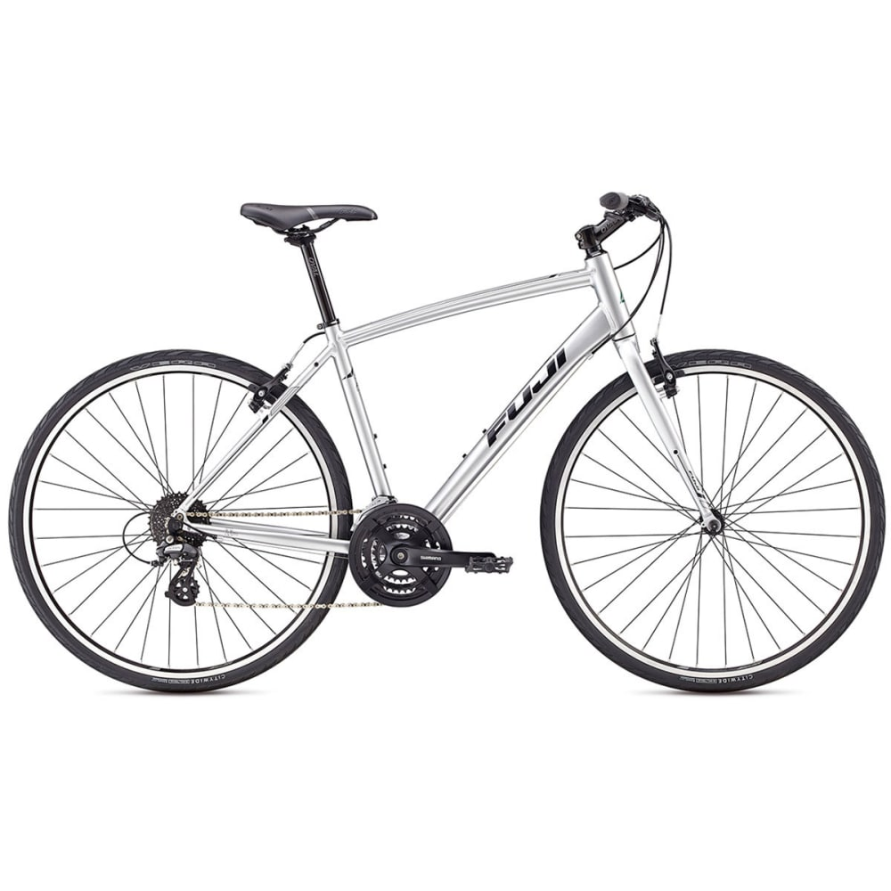 FUJI Absolute 2.1 Hybrid Bike - SILVER/BLACK