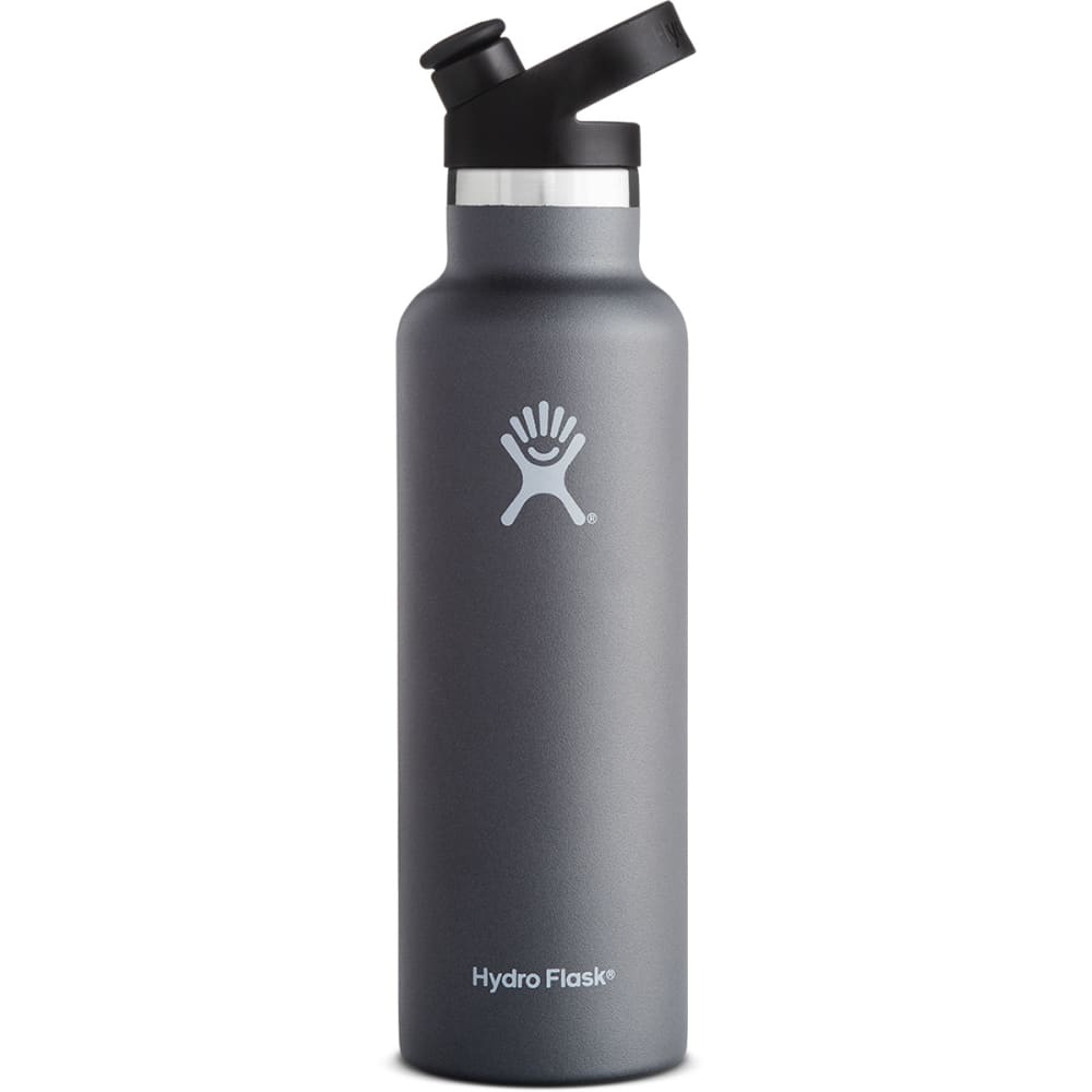 HYDRO FLASK 21 oz. Standard Mouth Water Bottle with Sport Cap - GRAPHITE