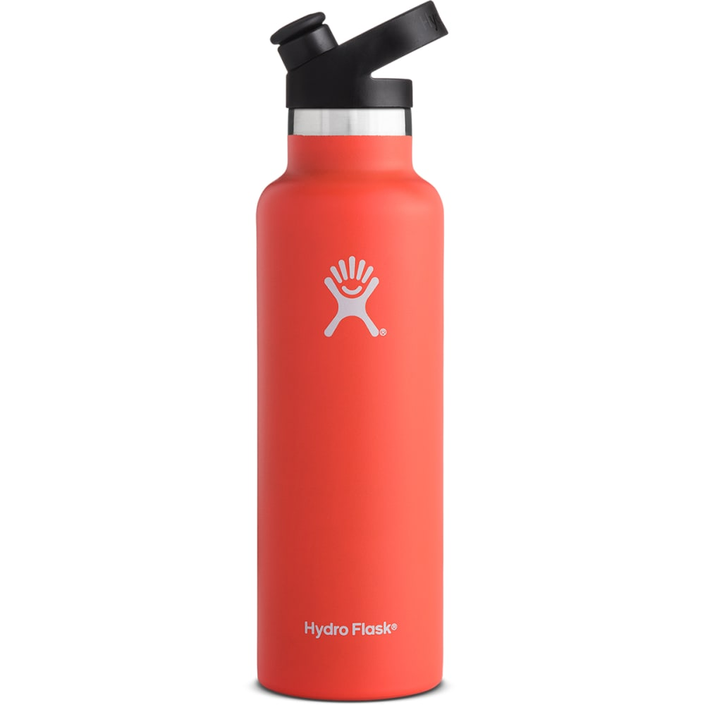 HYDRO FLASK 21 oz. Standard Mouth Water Bottle with Sport Cap - TANGELO ORANGE