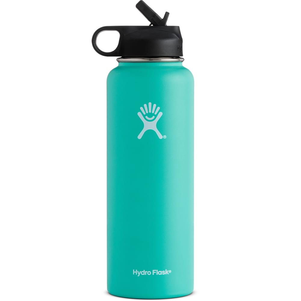 HYDRO FLASK 40 oz. Wide Mouth Water Bottle with Straw Lid - MINT