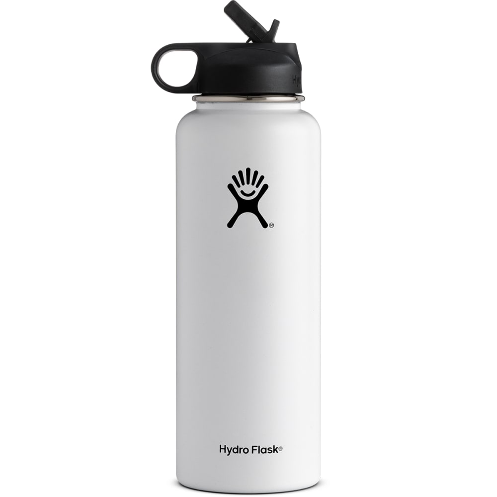 HYDRO FLASK 40 OZ. Flex With Straw, White - WHITE