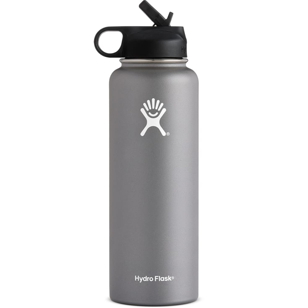 HYDRO FLASK 40 OZ.  Flex With Straw, Graphite - GRAPHITE