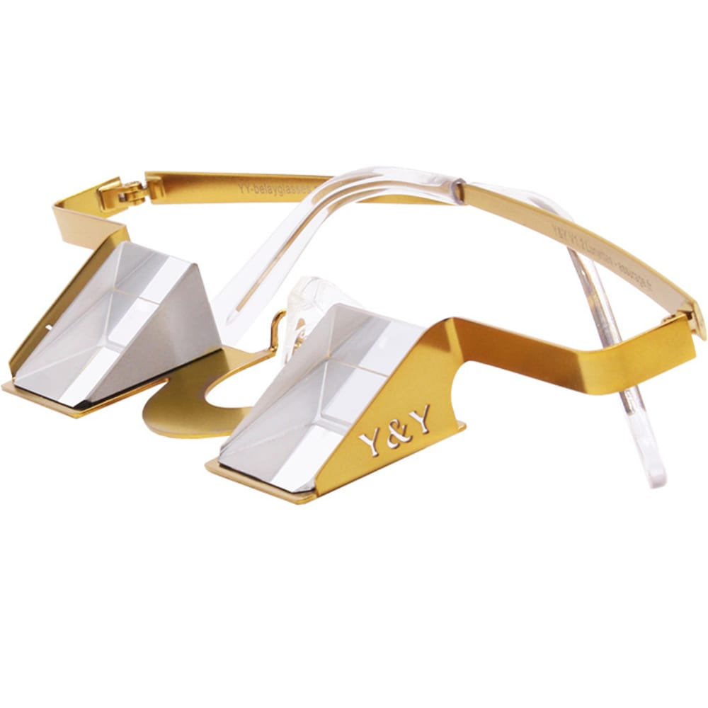 Y & Y VERTICAL Colorful Collection Belay Glasses - GOLD