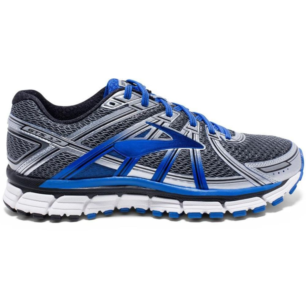 BROOKS Men's Adrenaline GTS 17 Running Shoes, Anthracite/Electric Brooks Blue/Silver - GREY