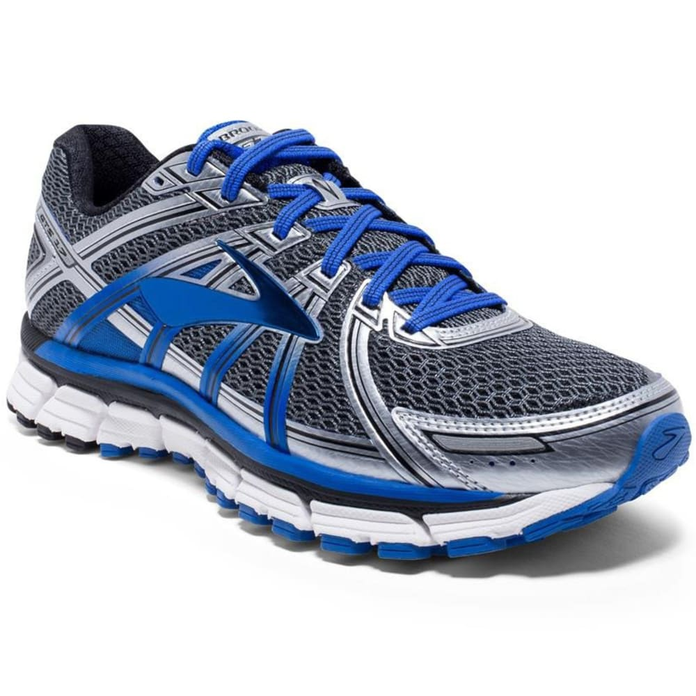 BROOKS Men's Adrenaline GTS 17 Running Shoes, AnthraciteElectric Brooks BlueSilver