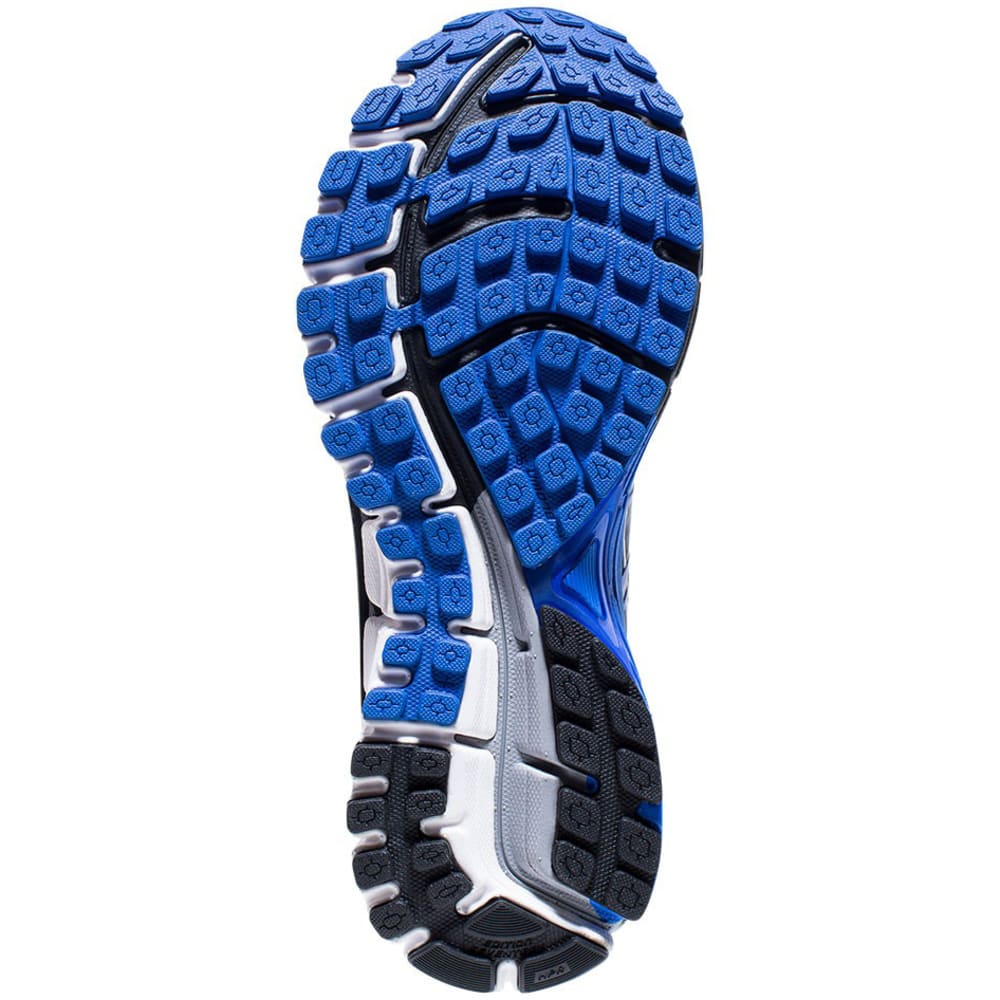 BROOKS Men's Adrenaline GTS 17 Running Shoes, Wide, Anthracite/Electric Brooks Blue/Silver - GREY