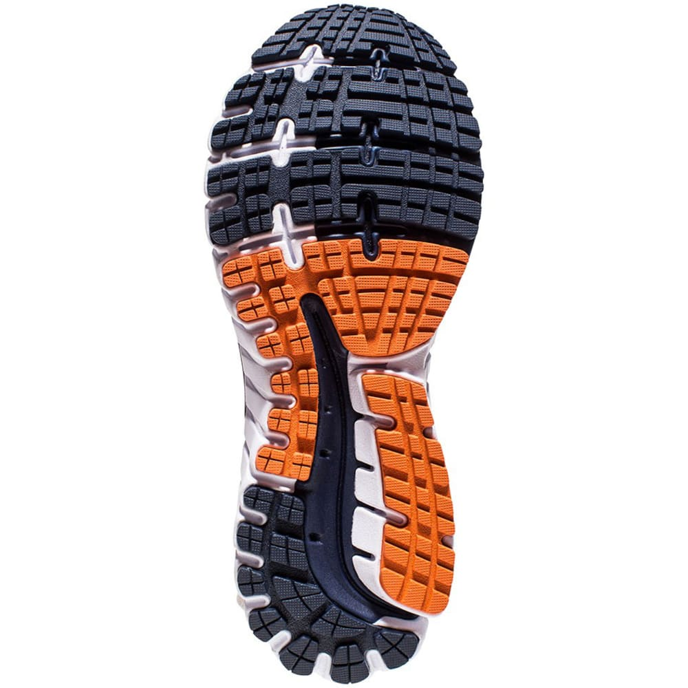 BROOKS Men's Ghost 9 Running Shoes, Peacoat/Red Orange/Black - PEACOAT NVY