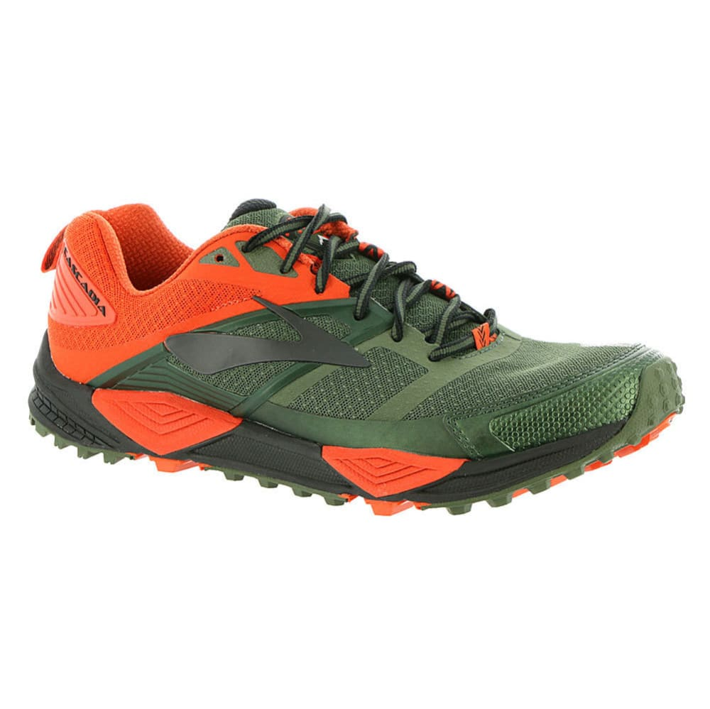 BROOKS Men's Cascadia 12 Trail Running Shoes, Anthracite/Electric Blue/Black - GREEN - 362