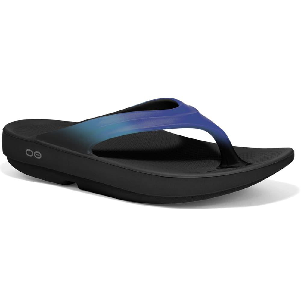 OOFOS Women's OOlala Thong Sandals, Bluejay/Black - BLUEJAY