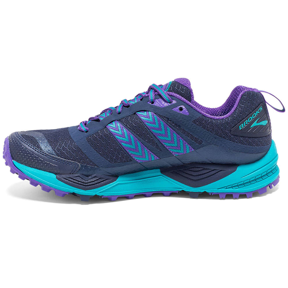 BROOKS Women's Cascadia 12 Trail Running Shoes, Peacoat/Passion Flower - PEACOAT/PASSION FLWR