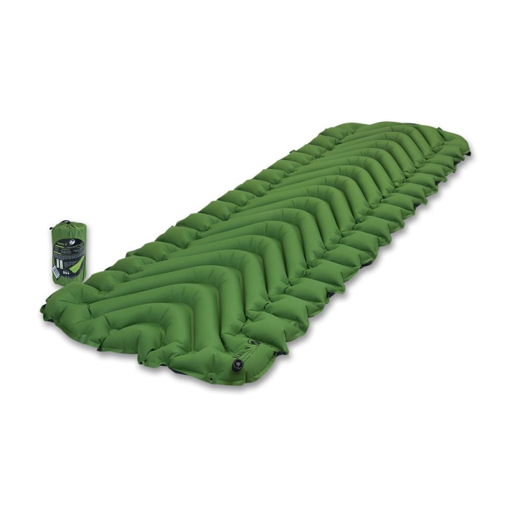 KLYMIT Static V Sleeping Pad - GREEN/CHARCOAL BLACK