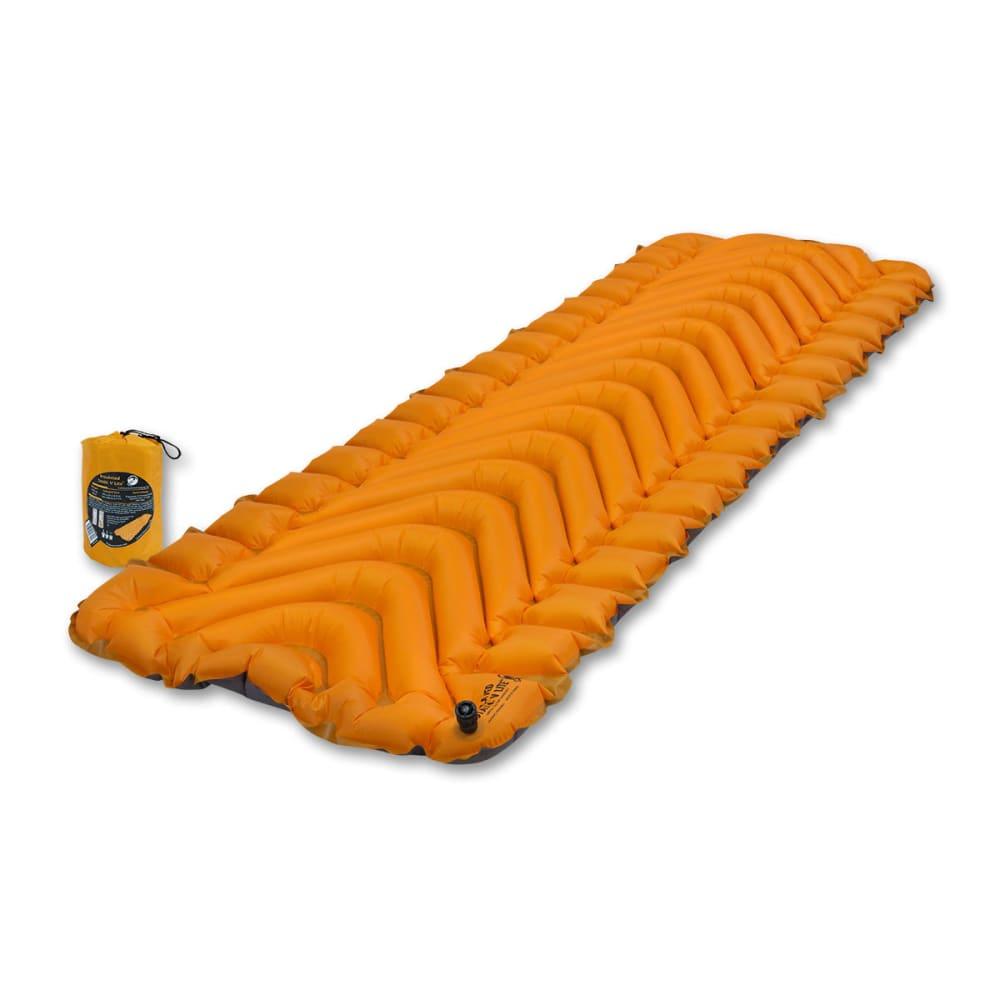 KLYMIT Insulated Static V Sleeping Pad - ORANGE/CHARCOAL BLK