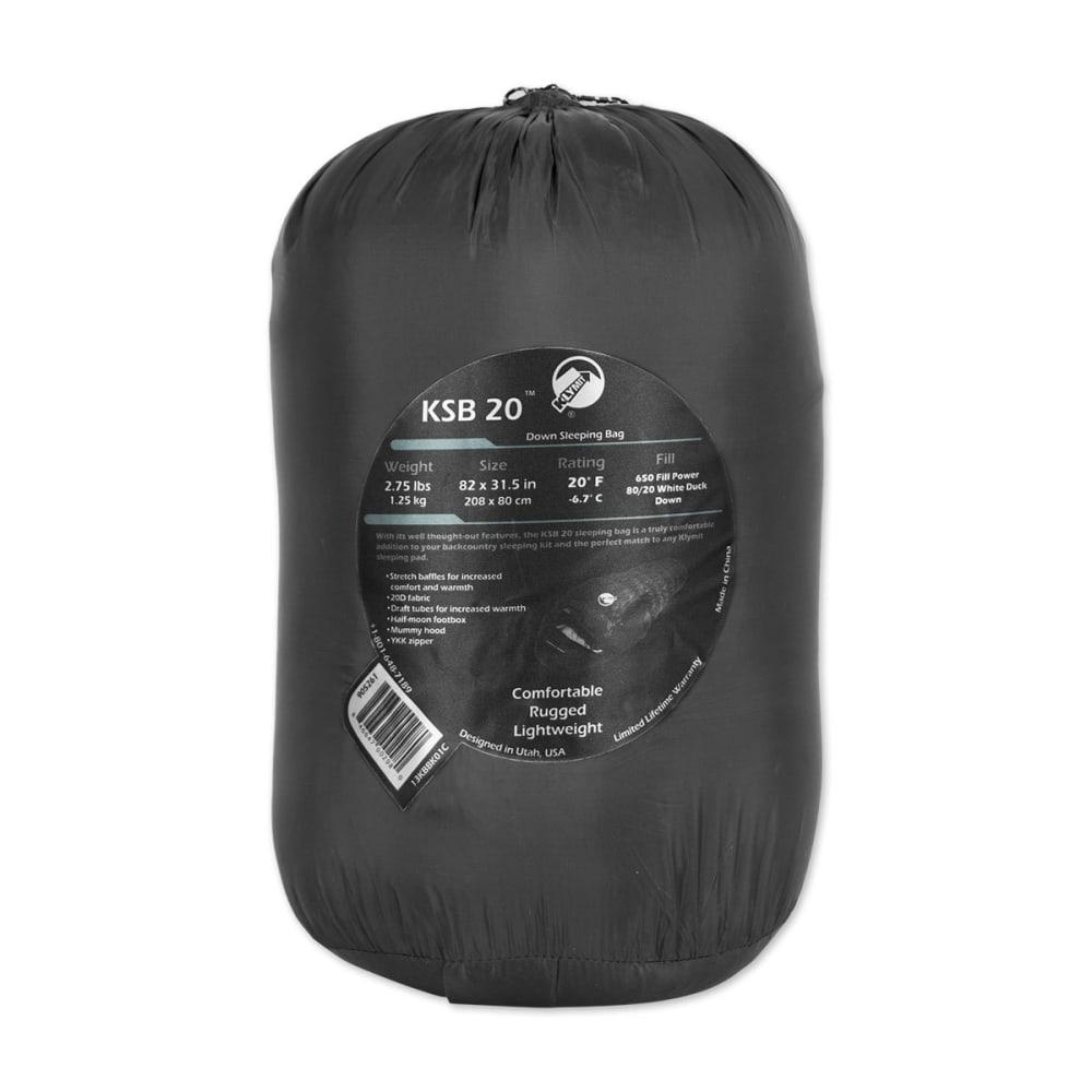 KLYMIT KSB 20 Down Sleeping Bag - BLACK
