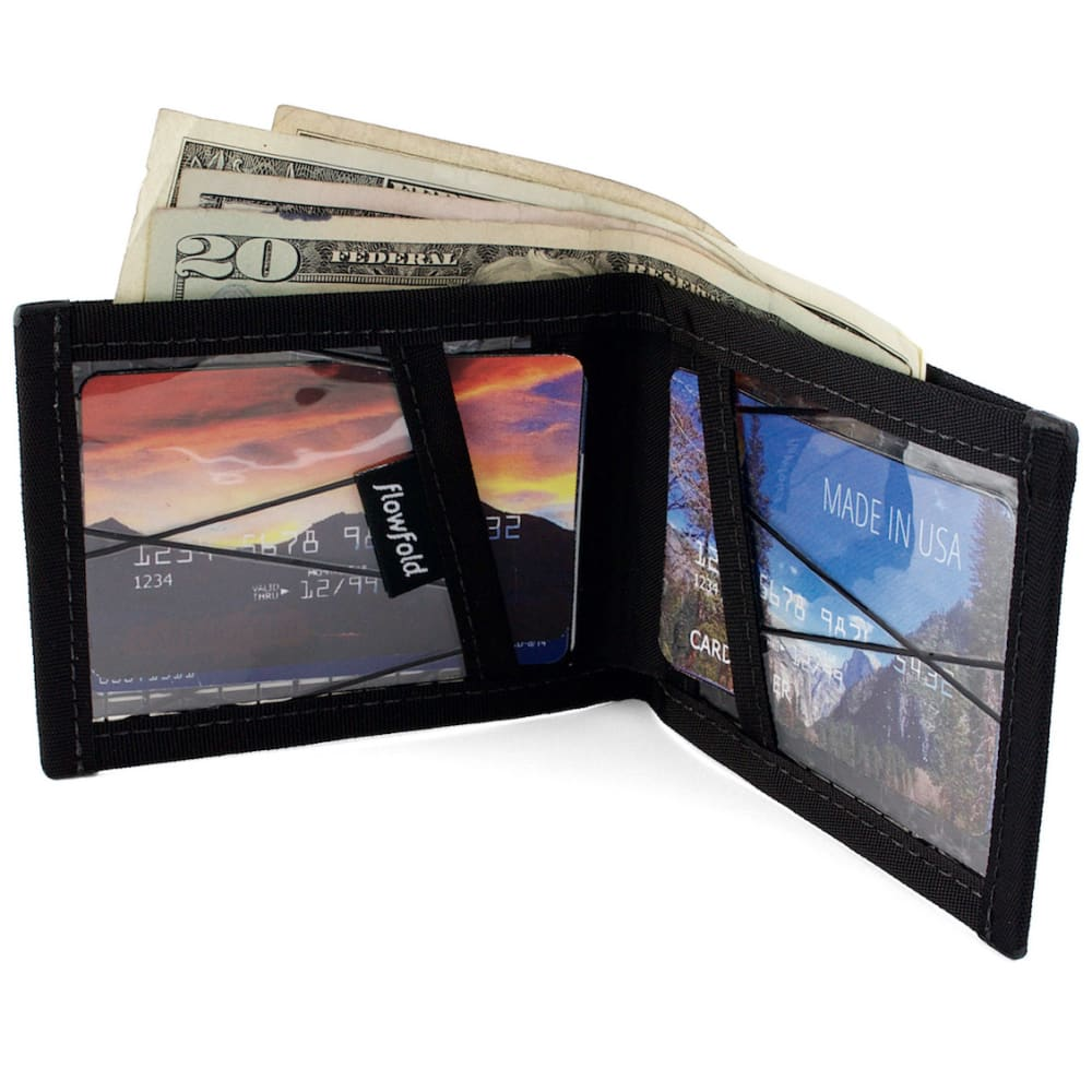 FLOWFOLD Vanguard Limited Billfold Wallet - JET BLACK FFBF021
