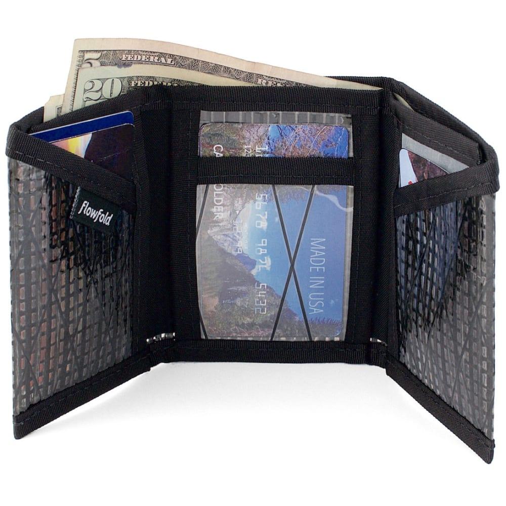 FLOWFOLD Sailcloth Traveler Trifold Wallet - BLACK PEARL FFTF001