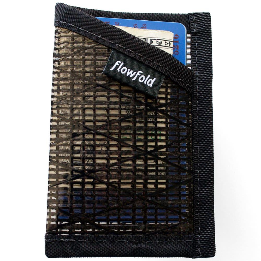 FLOWFOLD Minimalist Card Holder Wallet - BLACK PEARL FFTJ001