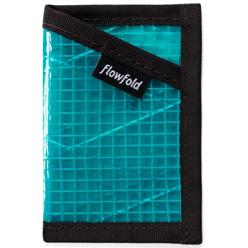 FLOWFOLD Minimalist Card Holder Wallet - CYAN FFTJ013