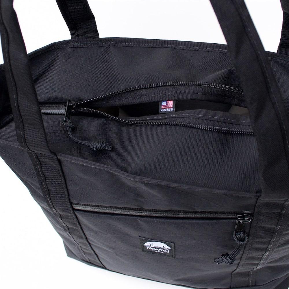 FLOWFOLD 16L Porter Zip Tote Bag - JET BLACK FFZT001