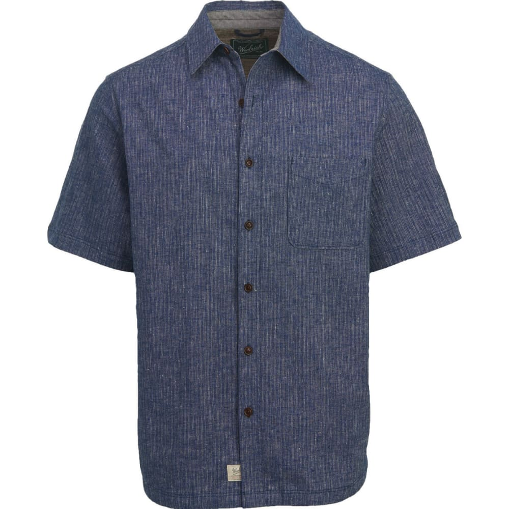 WOOLRICH Men's Mainroad Eco Rich Short-Sleeve Shirt, Classic Fit - NEW ROYAL BLUE