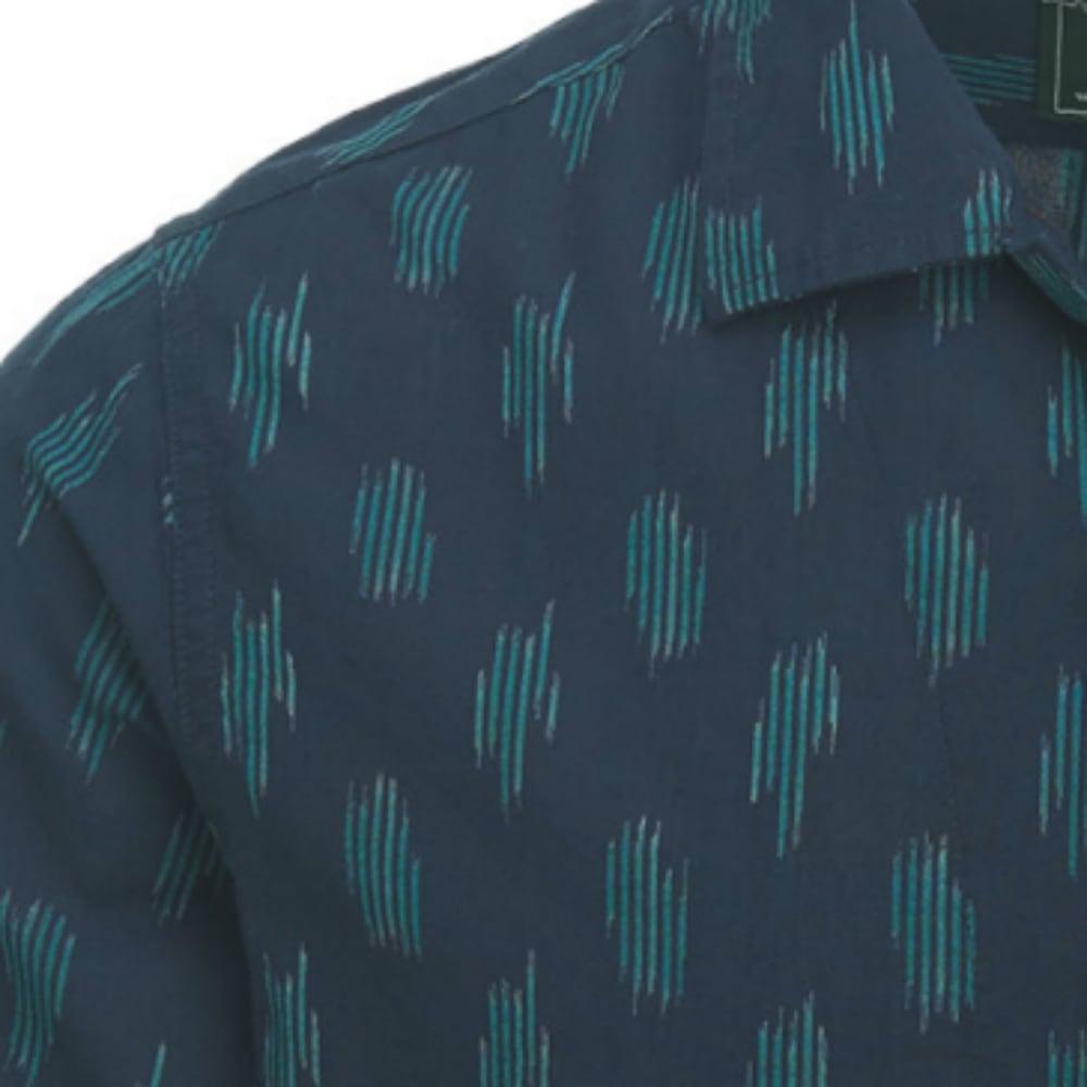 WOOLRICH Men's Altitude Eco Rich Buffalo Check Plaid Short-Sleeve Shirt, Modern Fit - DEEP INDIGO
