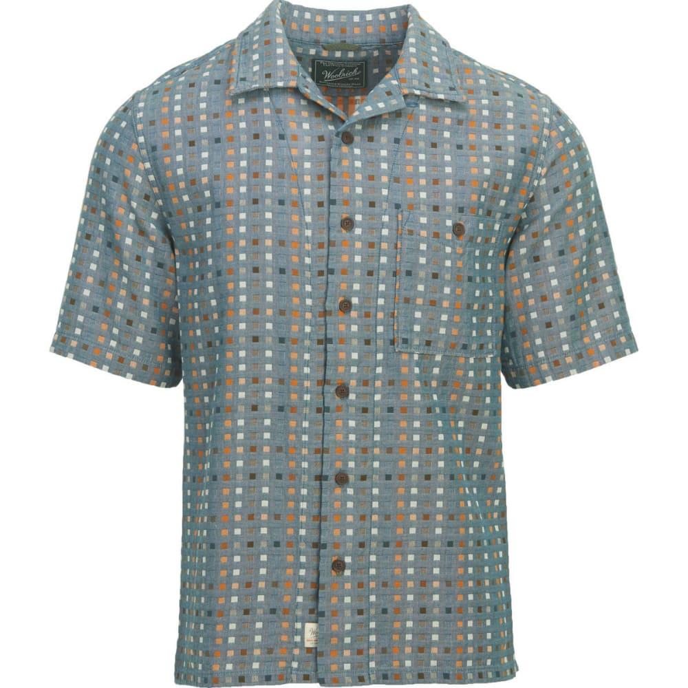 WOOLRICH Men's Coastal Peak Eco Rich Short-Sleeve Shirt, Modern Fit - DUSK