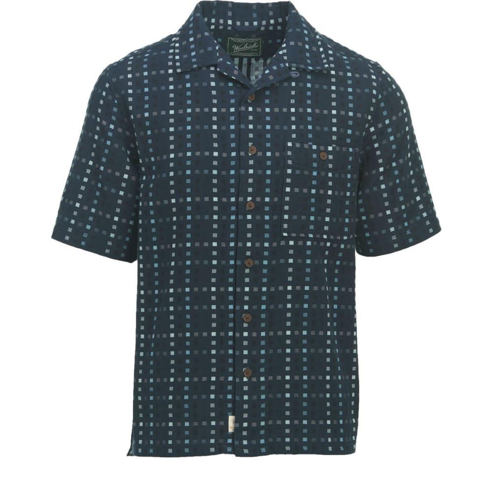 WOOLRICH Men's Coastal Peak Eco Rich Short-Sleeve Shirt, Modern Fit - DEEP INDIGO