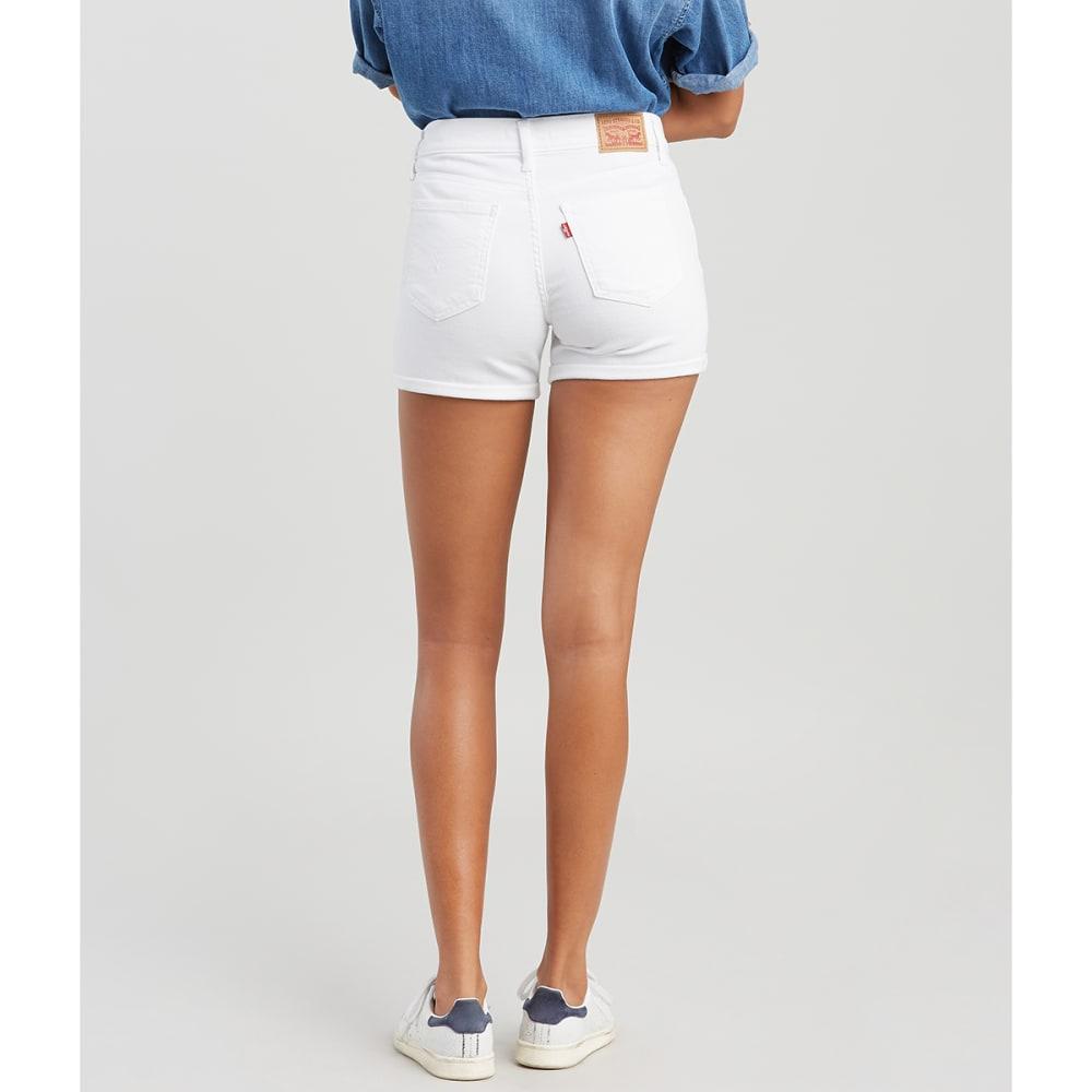LEVI'S Women's Mid-Length Shorts - 0030-PURE WHITE