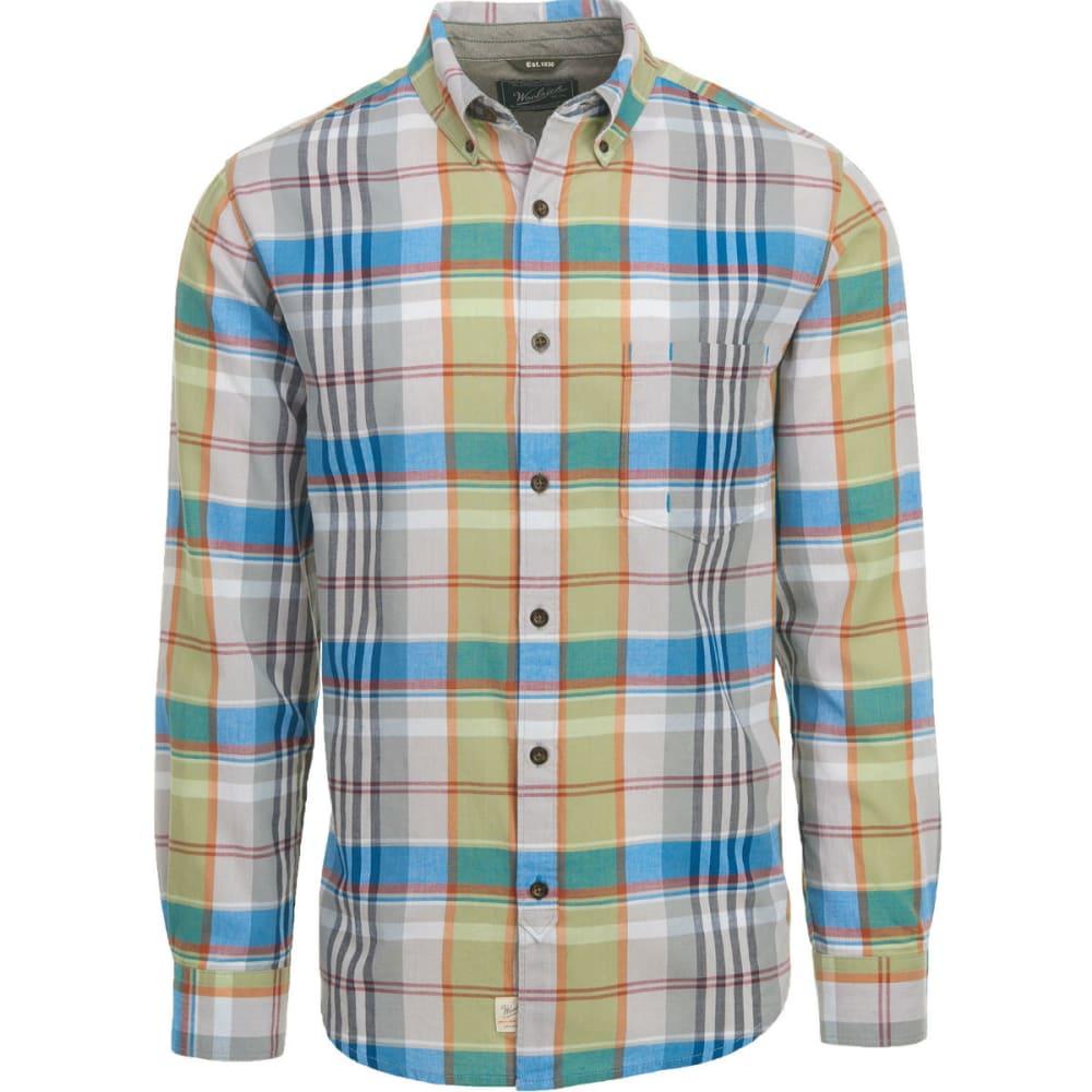WOOLRICH Men's Oak Springs Eco Rich Plaid Shirt, Modern Fit - NICKEL