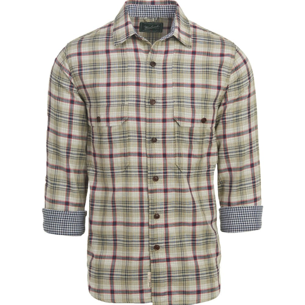 WOOLRICH Men's Weekend Eco Rich Double Weave Shirt, Modern Fit - GRASSLAND