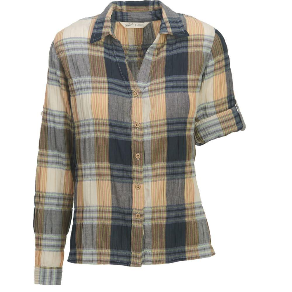 WOOLRICH Women's Carrabelle Convertible Sleeve Seersucker Shirt - SHADOW PLAID