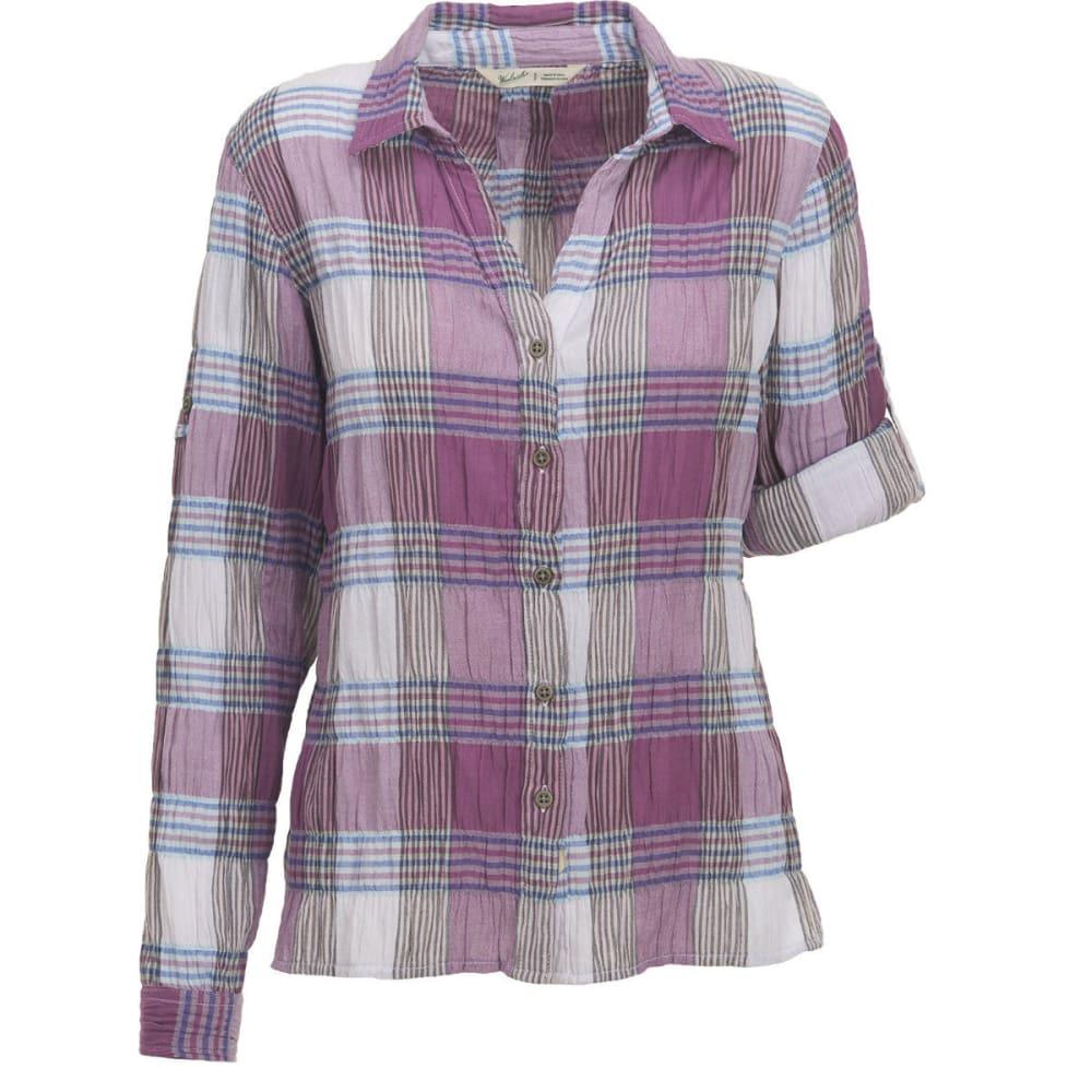 WOOLRICH Women's Carrabelle Convertible Sleeve Seersucker Shirt - HYDRANGEA PLAID