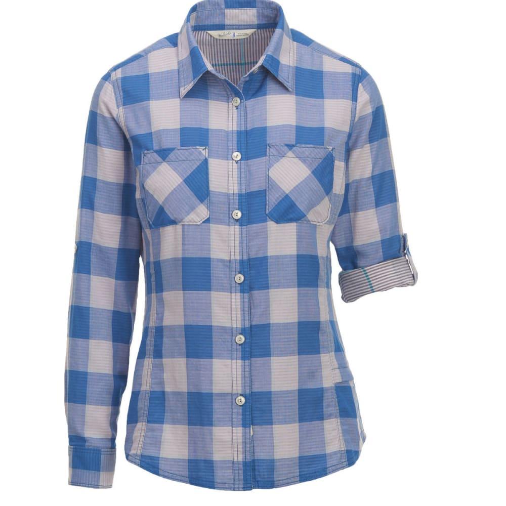 WOOLRICH Women's Conundrum Eco Rich Convertible Sleeve Shirt - LAPIS