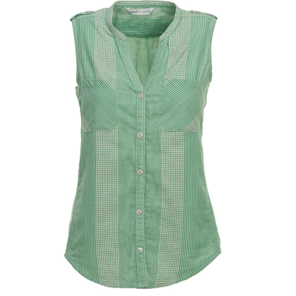 WOOLRICH Women's Conundrum Eco Rich Sleeveless Shirt - LAWN