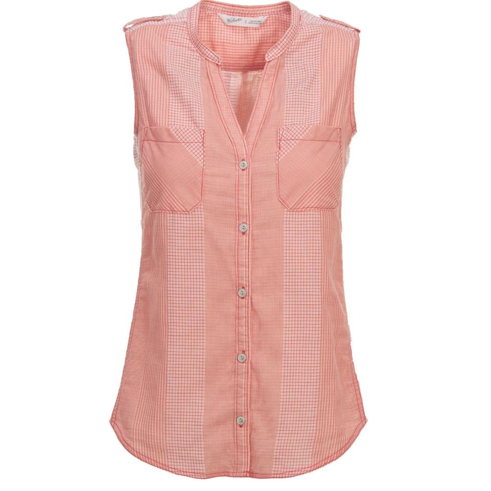 WOOLRICH Women's Conundrum Eco Rich Sleeveless Shirt - TEABERRY