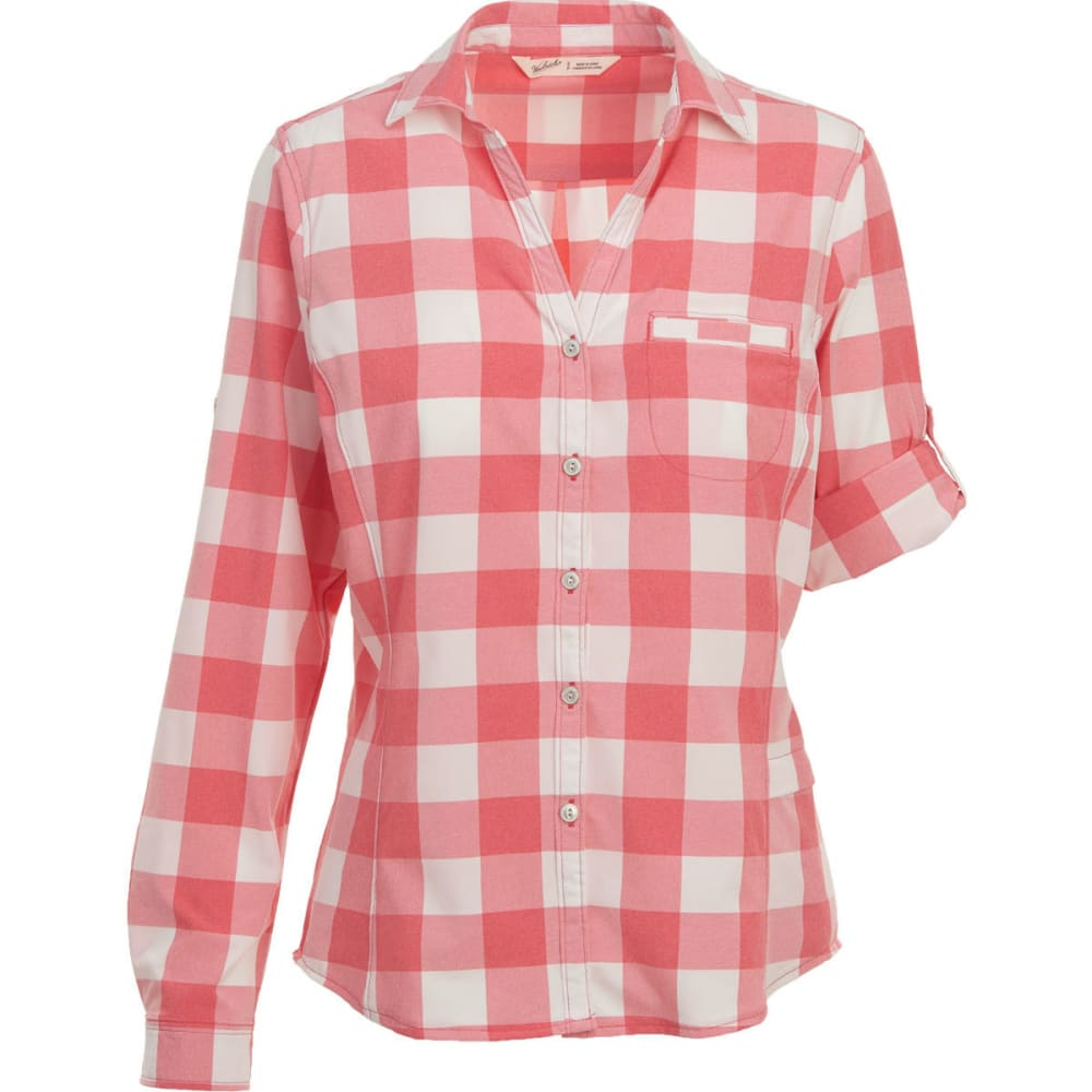 WOOLRICH Women's Day Pack Convertible Sleeve Shirt - TEABERRY CHECK