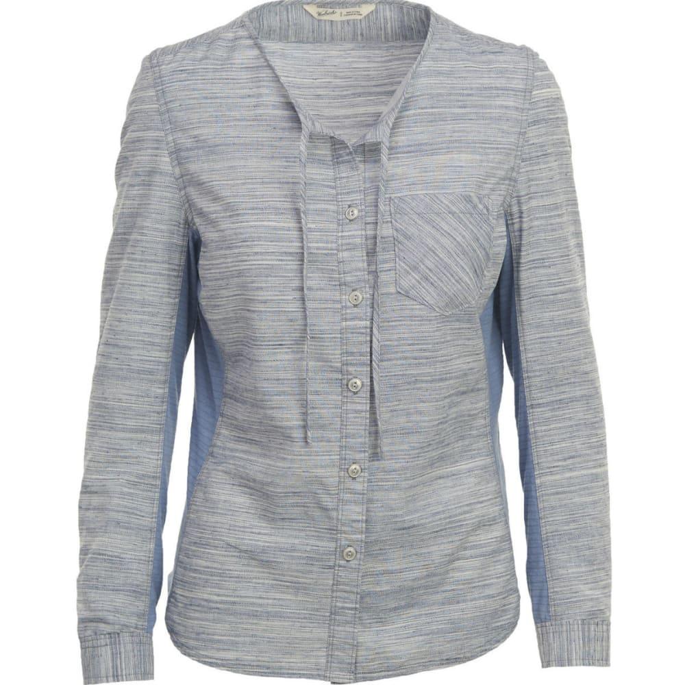 WOOLRICH Women's Outside Air Eco Rich Shirt - NEW ROYAL BLUE