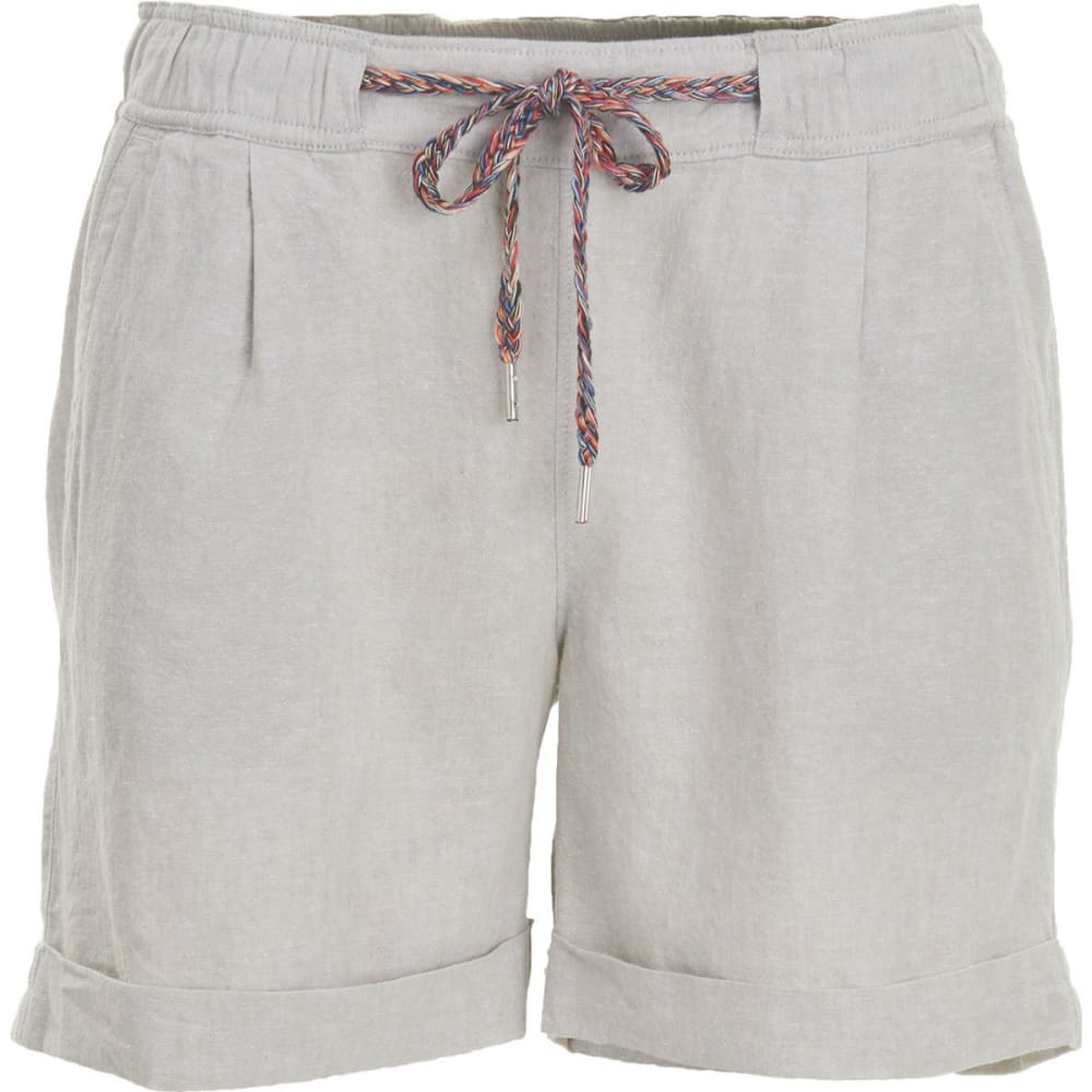 WOOLRICH Women's Outside Air Eco Rich Linen Blend Shorts - VINTAGE KHAKI