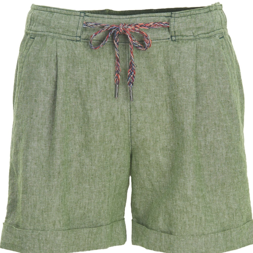 WOOLRICH Women's Outside Air Eco Rich Linen Blend Shorts - MOSS