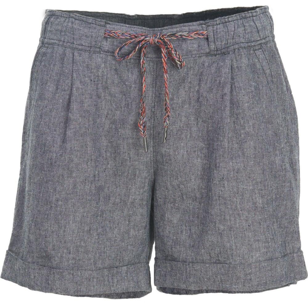 WOOLRICH Women's Outside Air Eco Rich Linen Blend Shorts - NAVY
