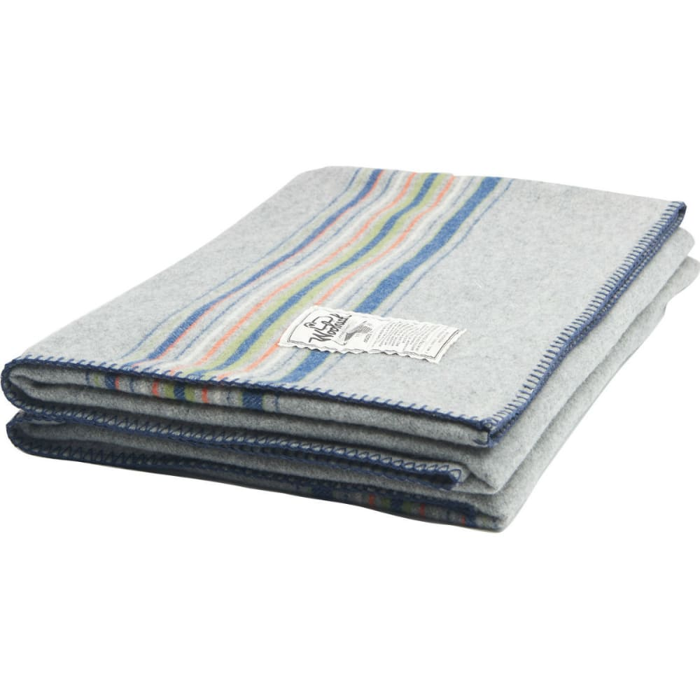 WOOLRICH 56x70 Shady Cove Stripe Blanket - LIGHT GRAY STRIPE