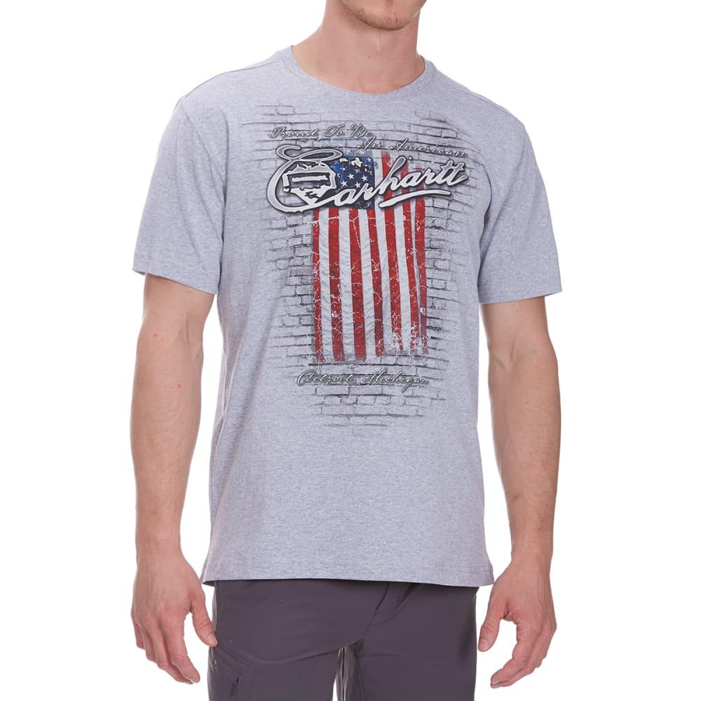 e0b5fc040 CARHARTT Men's MTO Flag Americana Graphic Short-Sleeve Tee - HEATHER