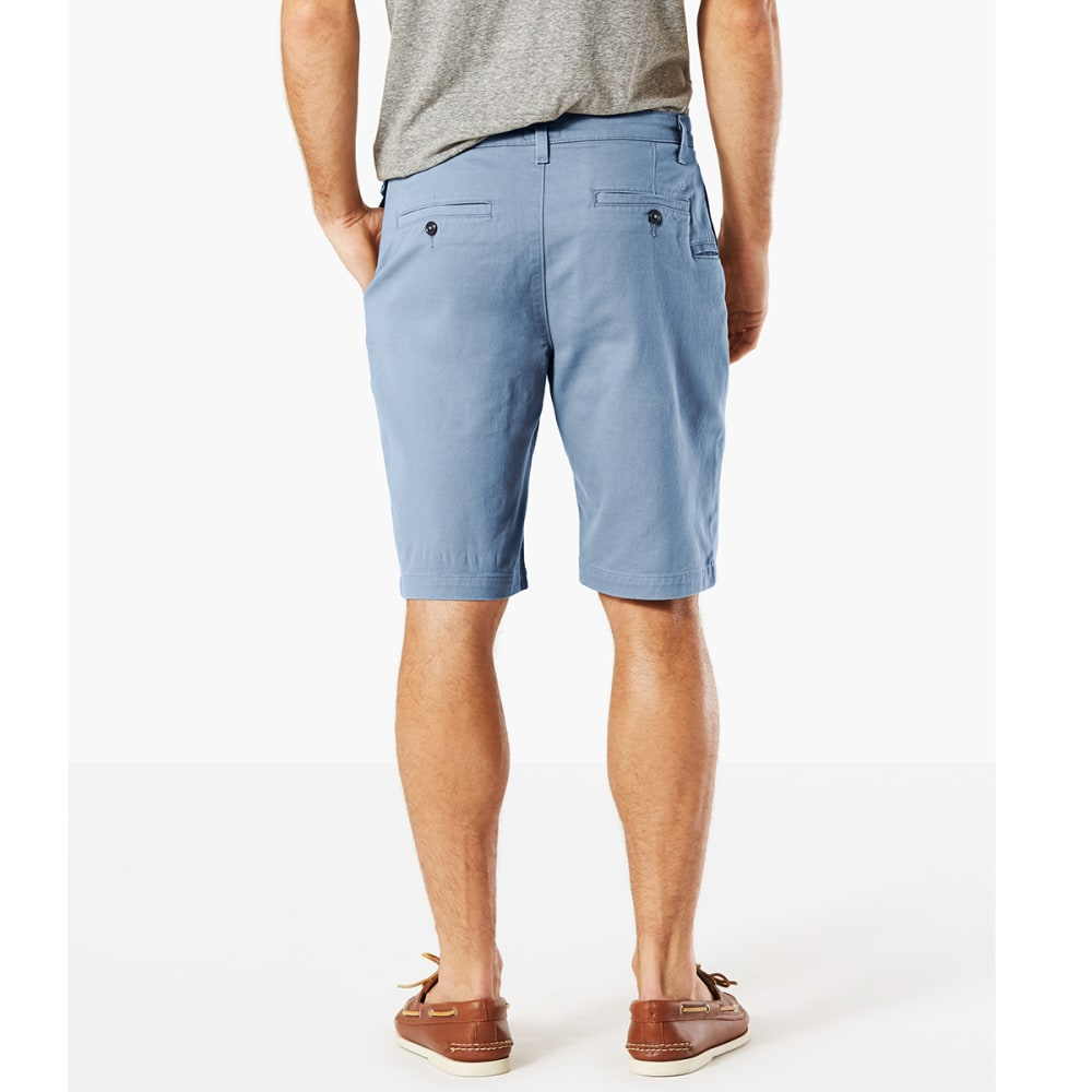 DOCKERS Men's Perfect Classic Flat-Front Shorts - COPPEN BLUE - 0626