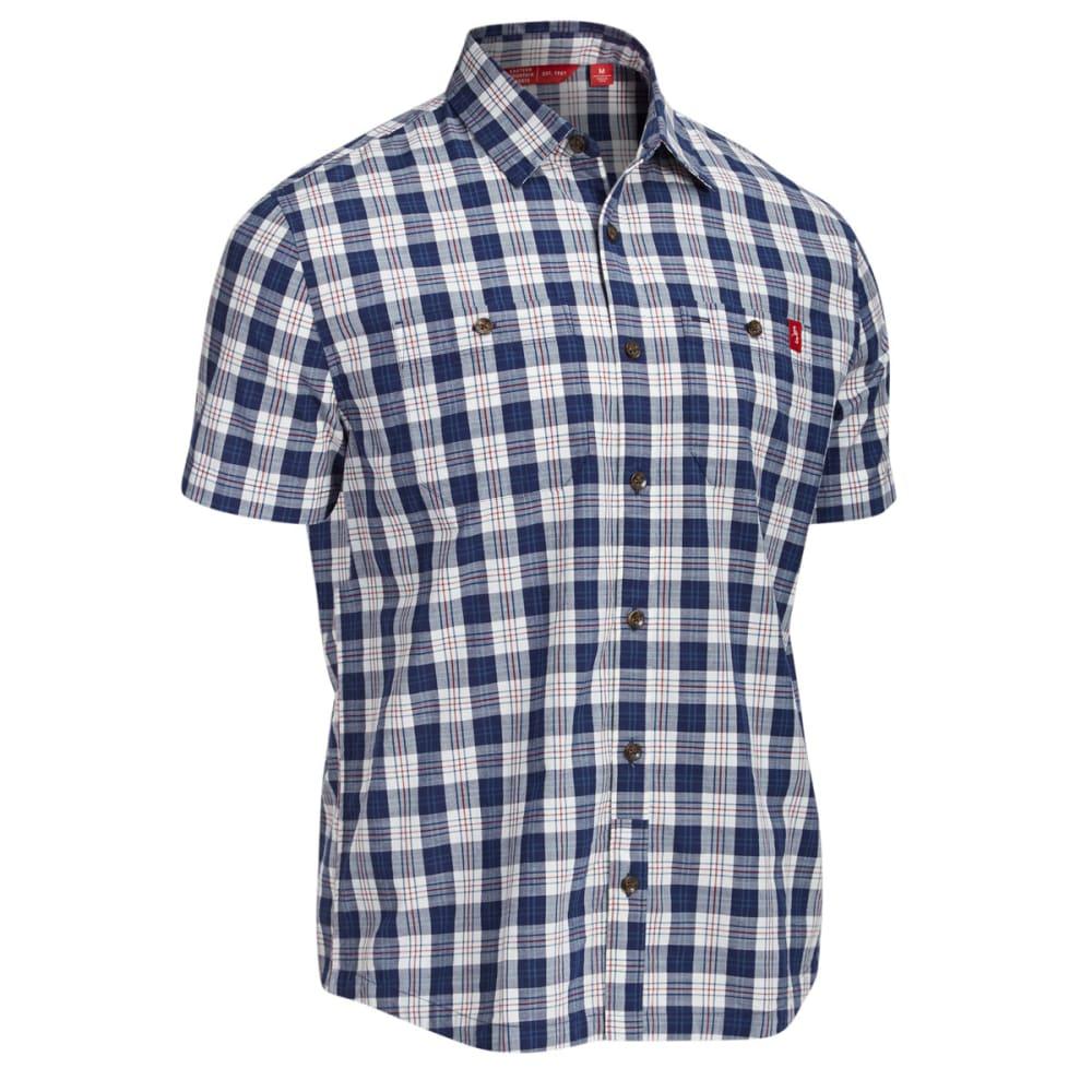 EMS Men's Ranger Plaid Short-Sleeve Shirt - PEACOAT