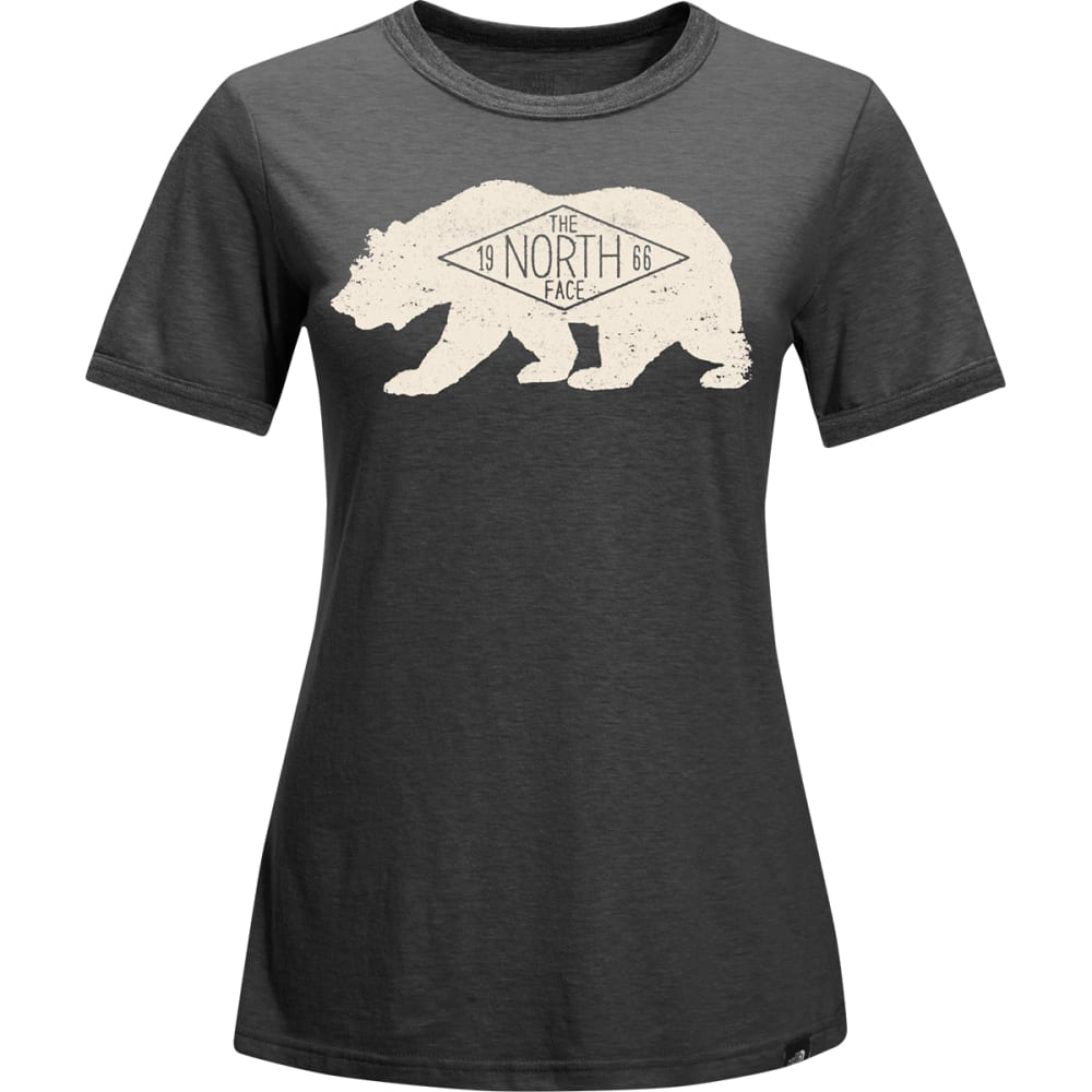 THE NORTH FACE Women's Short-Sleeve Natural Ringer Tee - DYZ-TNF DRK GRY HTHR