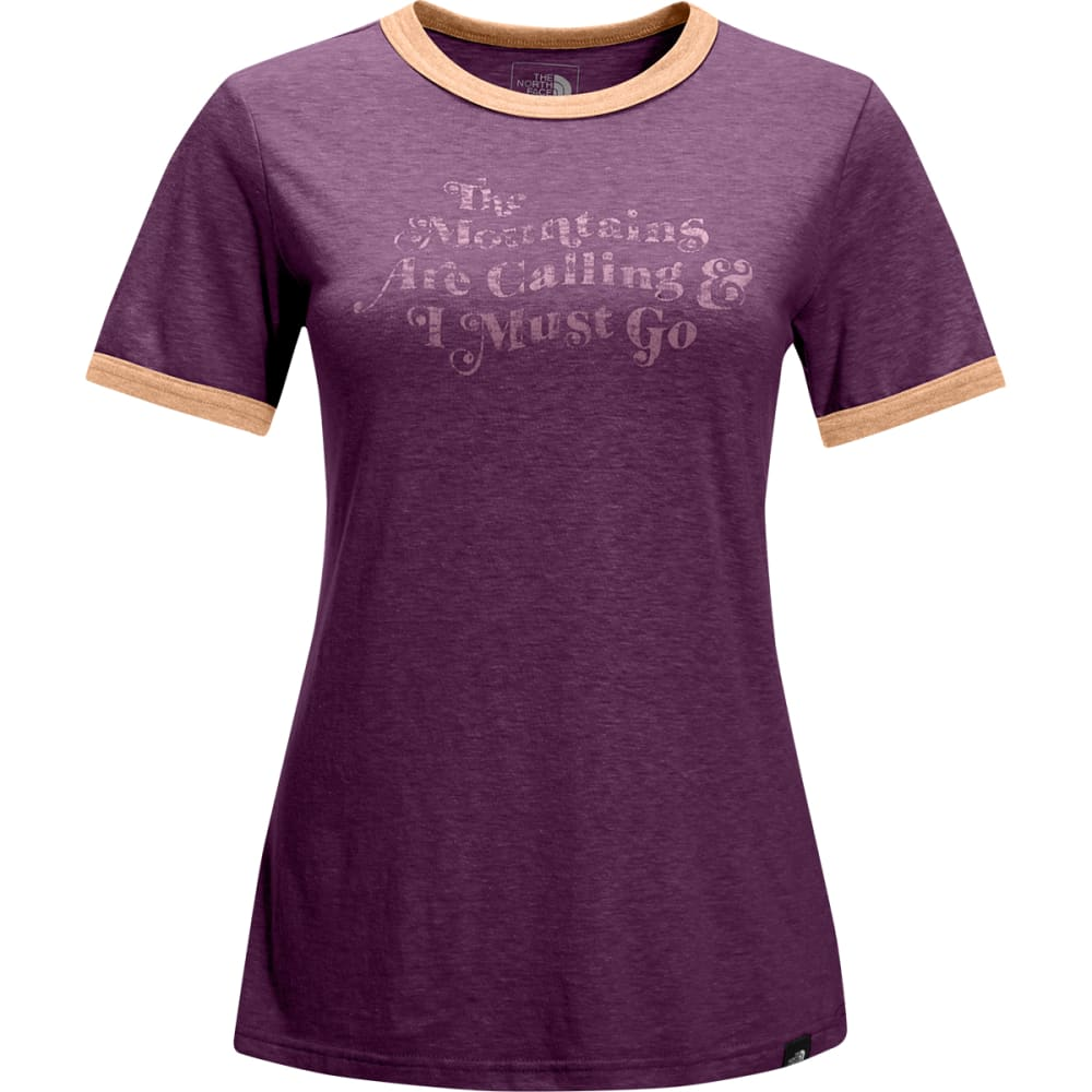 THE NORTH FACE Women's Short-Sleeve Natural Ringer Tee - UEN-AMARANTH PURPLE