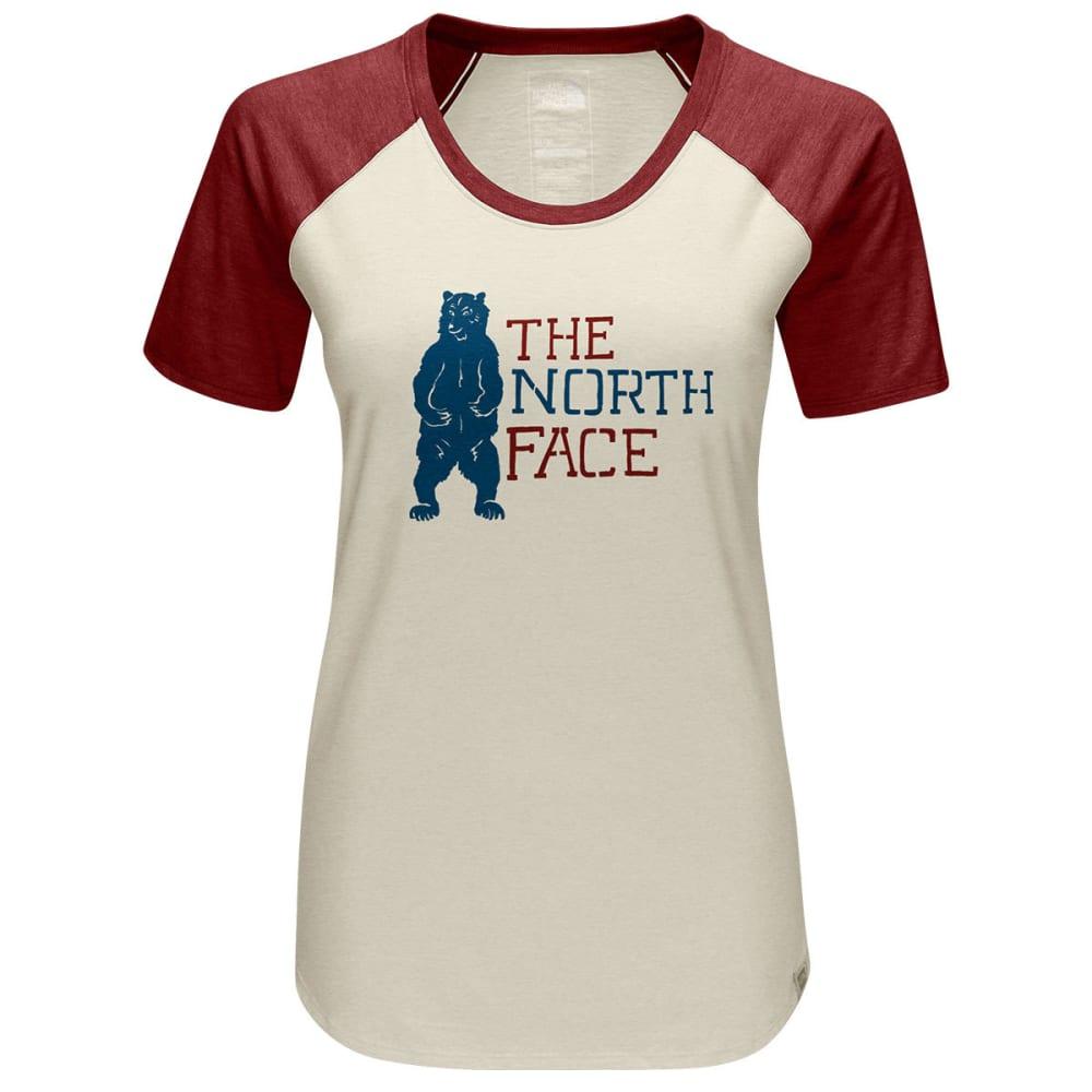 THE NORTH FACE Women's Short-Sleeve Americana Baseball Tee - VHY-VINTAGE WHT HTHR